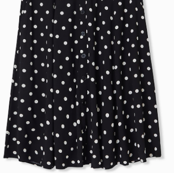 plus size black polka dot skirt