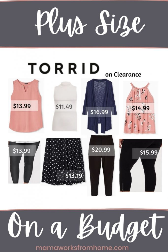 plus size clothing on a budget